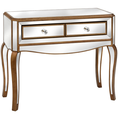 Aria Mirrored Two Drawer Console Table - MEEKNEST