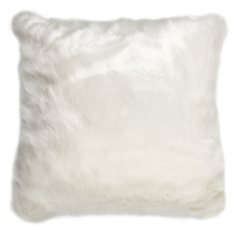 Luxurious White Faux Fur Cushion - MEEKNEST