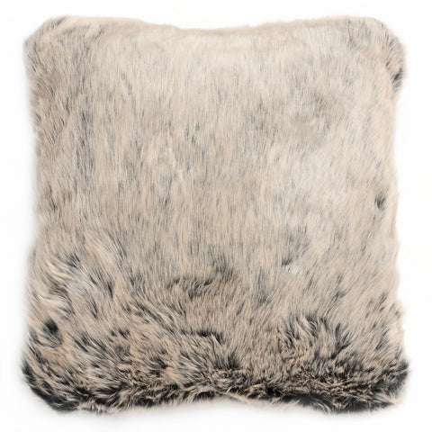 Luxurious Grey Faux Fur Cushion - MEEKNEST