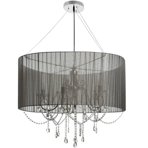 Crystal Droplet Chandelier With Shade - MEEKNEST