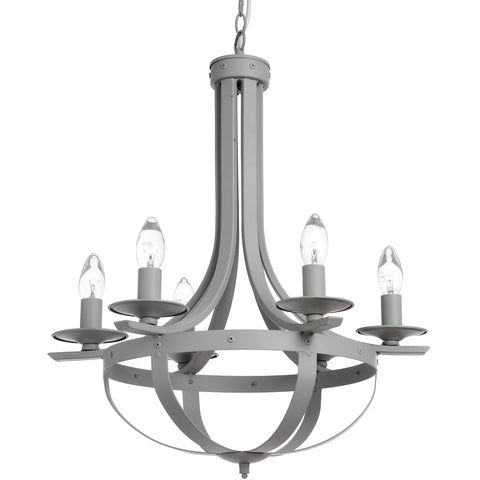 Rustic Country Grey Chandelier - MEEKNEST