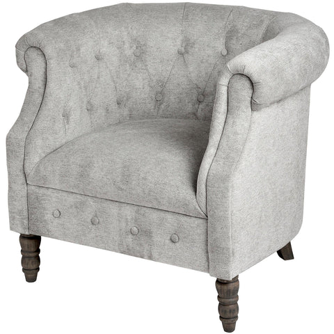 Silver Button Pressed Tub Chair - MEEKNEST