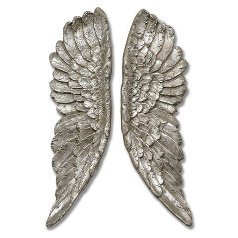 Antique Style Silver Angel Wings - MEEKNEST