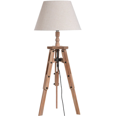 Wooden Tripod Side Lamp - MEEKNEST