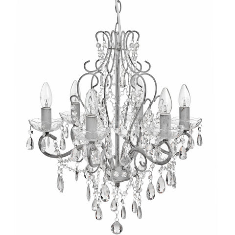 Drop Crystal Chandelier In Brushed Grey - MEEKNEST