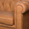 Tan Faux Button Pressed Chesterfield Sofa - MEEKNEST