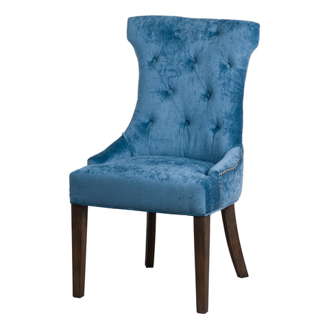 Teal Button Pressed Wing Chair - MEEKNEST