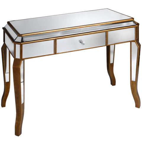Aria Mirrored Dressing Table With Large Drawer - MEEKNEST