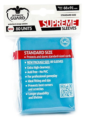 Ultimate Guard - 80ct Standard Supreme Deck Protector Sleeves - Light Blue
