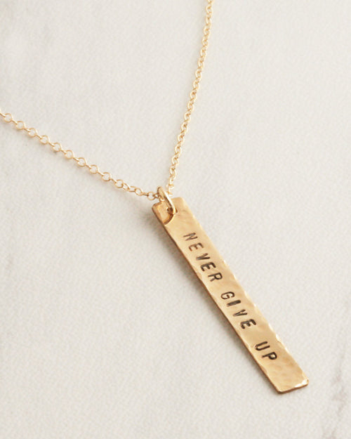 Words To Live By Gold Necklace