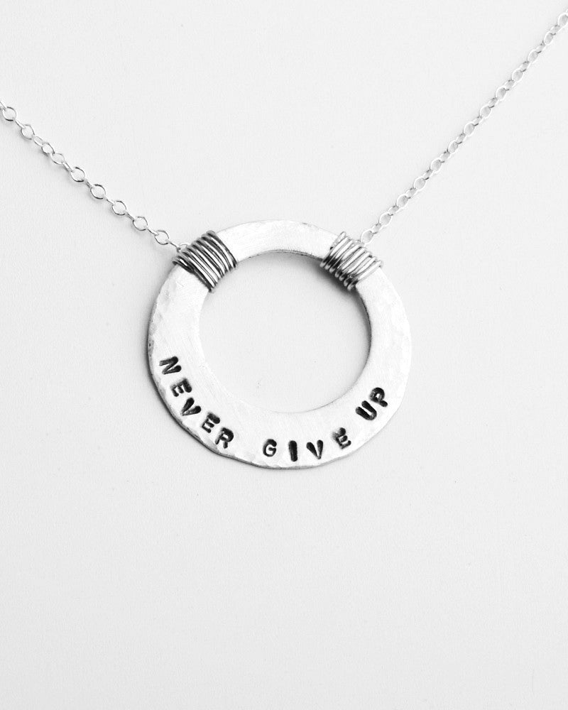 Full Circle Quotes Silver Necklace