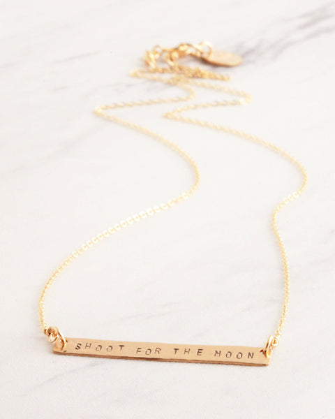 Uplifting Quotes Gold Necklace