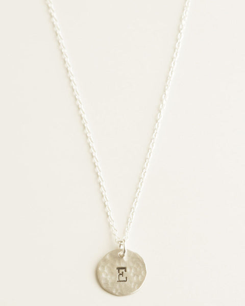 Delicate Initial Silver Necklace