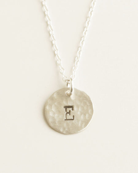 Silver Round Names Necklace