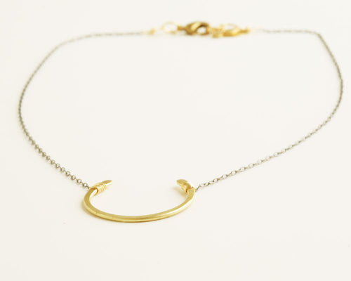 Vera Black & Gold Necklace