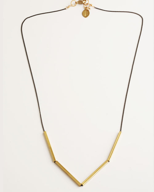 Evolve Black & Gold Necklace