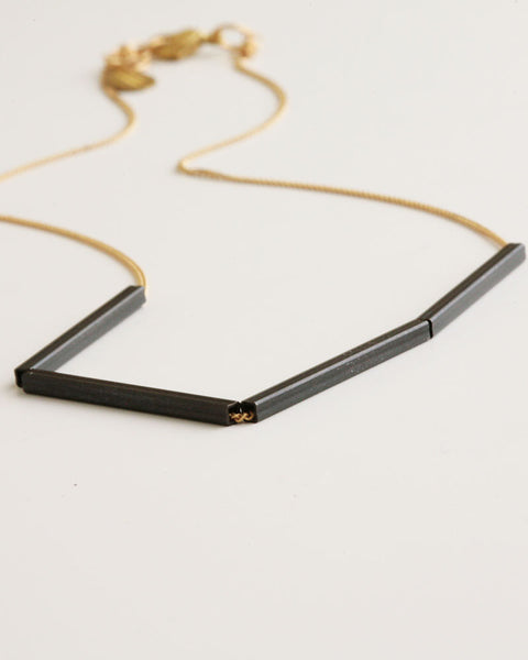 Evolve Gold & Black Necklace