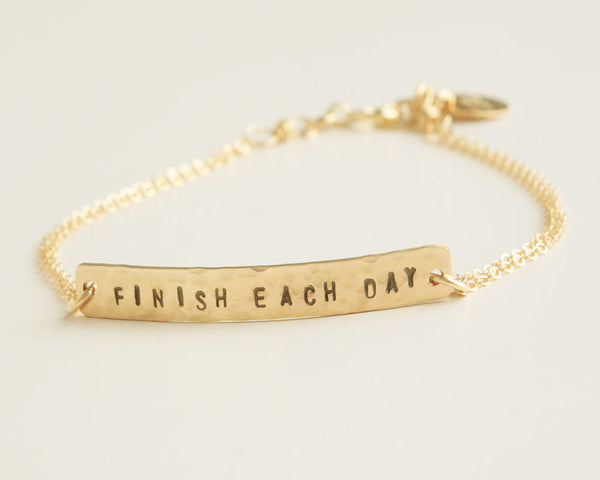 Uplifting Quotes Gold Bracelet