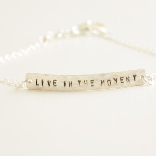 Uplifting Quotes Silver Bracelet