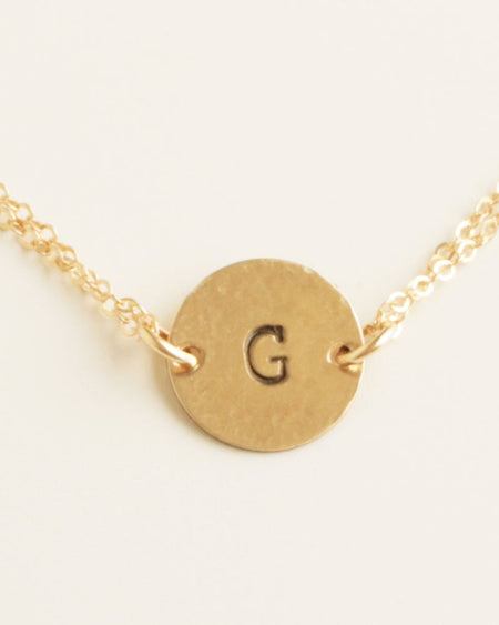 Four Initials Gold Necklace