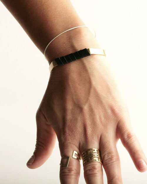 Pentagon Gold-Black Cuff
