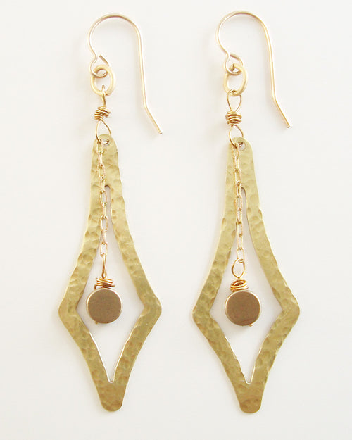 Vector Gold Earrings