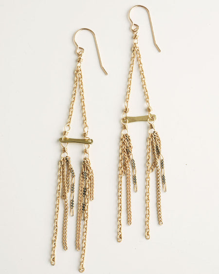 Zarcillos Gold Earrings