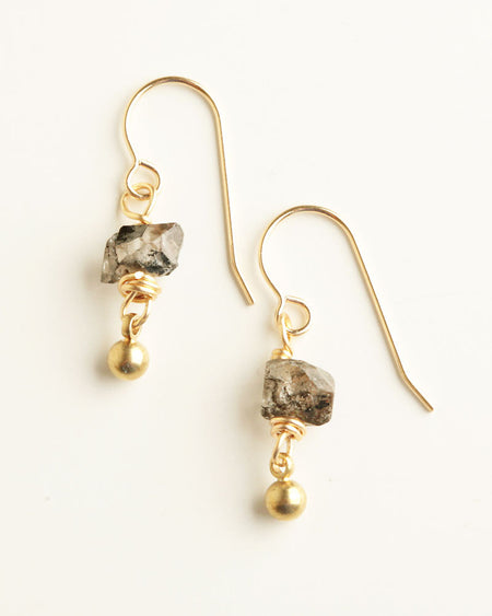 Rock-Around Black Earrings