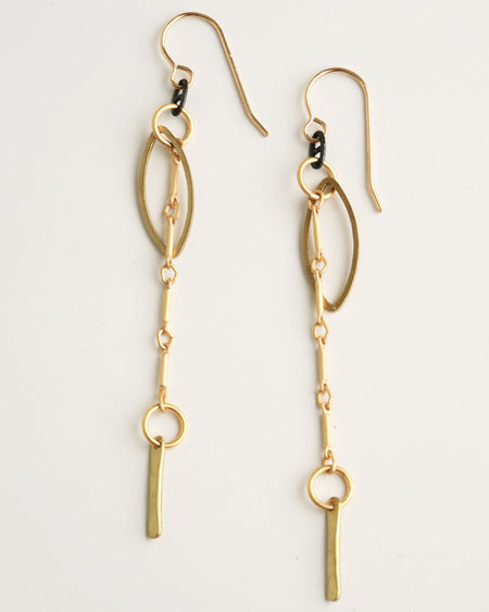 Keep The Beat Gold Earrings