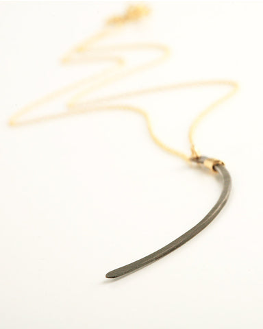 Ellipse Gold & Black Necklace