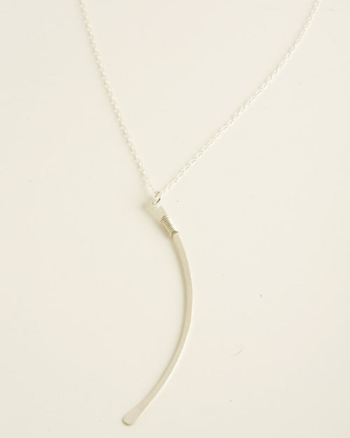 Ellipse Silver Necklace