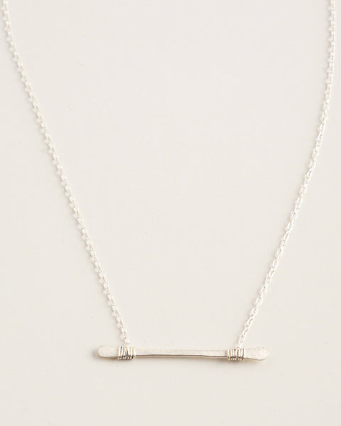 Crossbar Silver Necklace