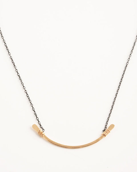 Contour Black and Gold Necklace