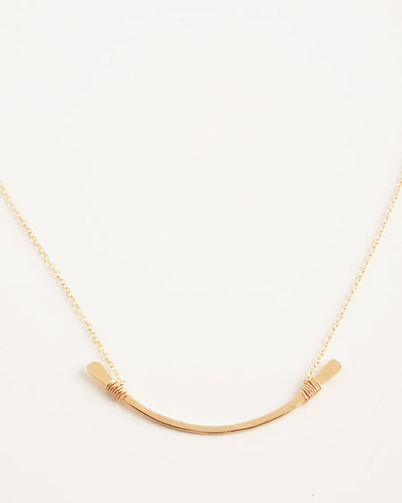 Brody Gold Lariat Necklace
