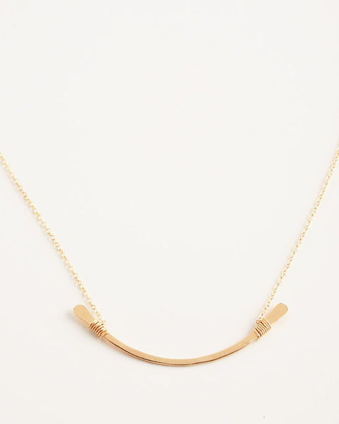 Contour Gold Necklace