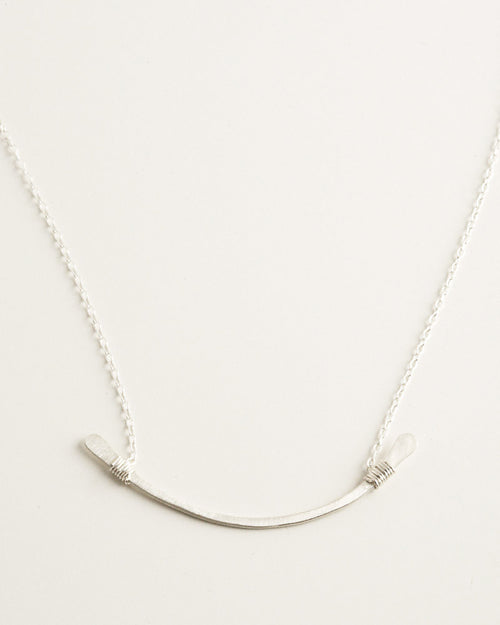 Contour Silver Necklace
