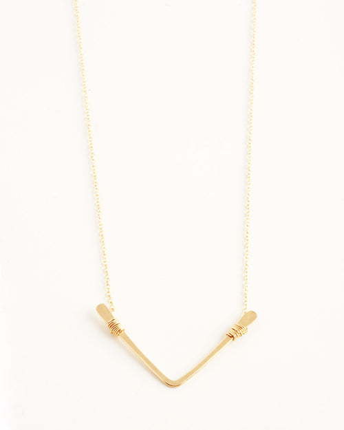 Single Chevron Gold Necklace