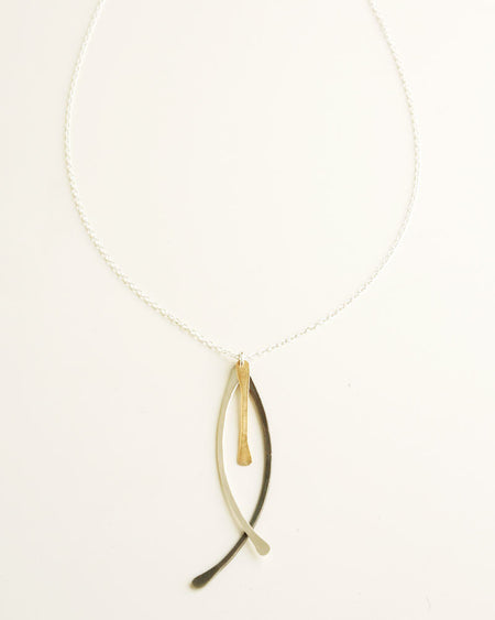 Rute Black Gold Necklace