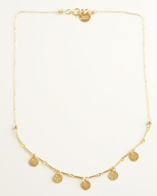 Simple Dots Gold Necklace