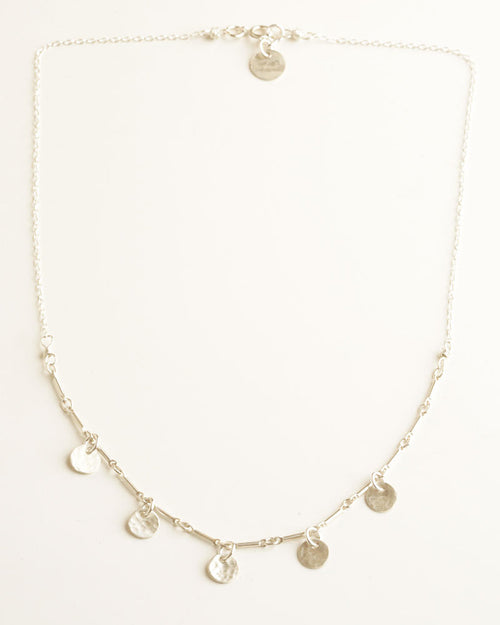 Simple Dots Silver Necklace