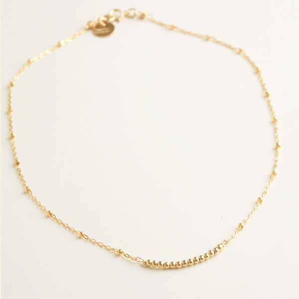 Mini Beads Gold Necklace