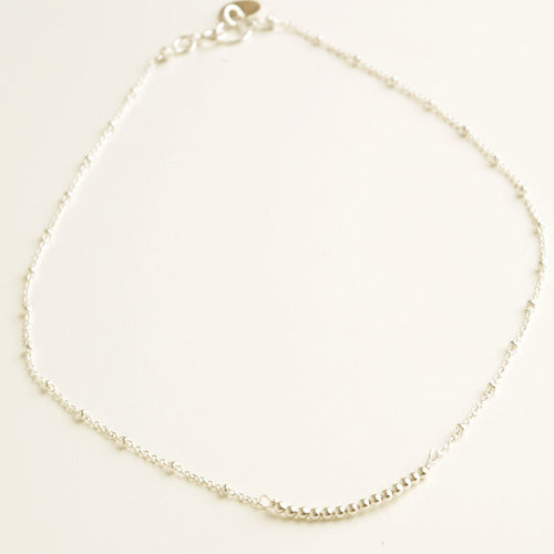 Mini Beads Silver Necklace