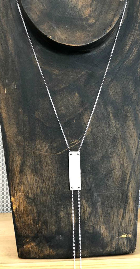 Crossbar Black & Gold Necklace