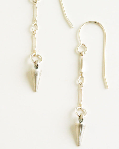 O'Clock Silver Earrings