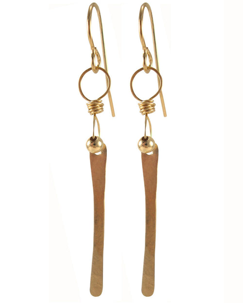 Piccolo Gold Earrings
