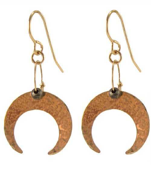 Moon Phase Gold Earrings