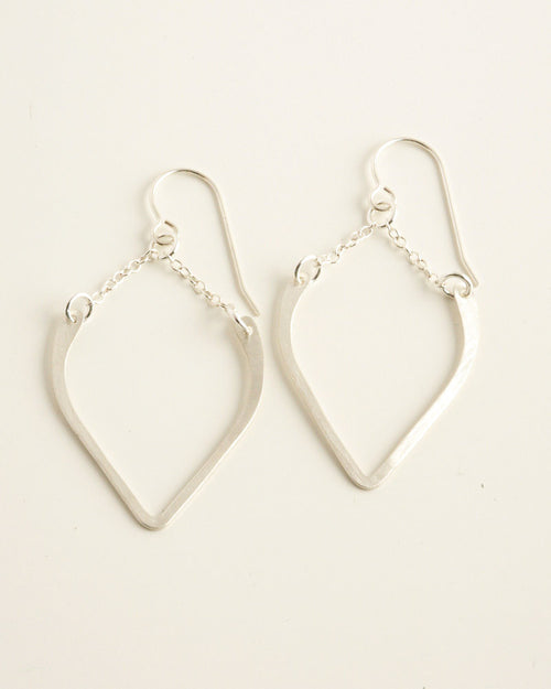 Peaked Silver Earrings
