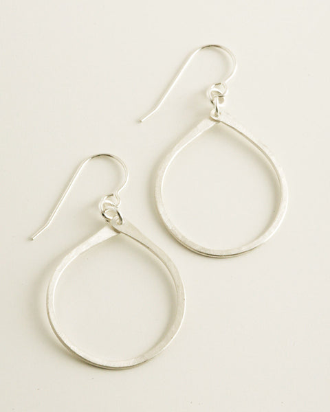 Droplet Silver Earrings