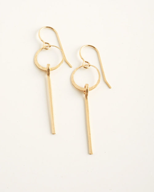 Magnifier Gold Earrings