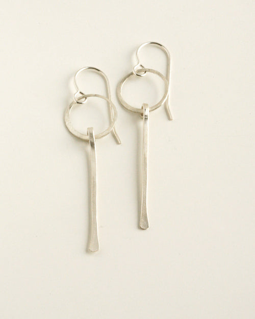 Magnifier Silver Earrings